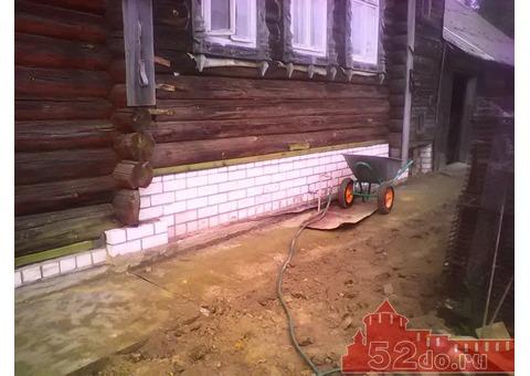 Поднимем дом. Ремонт домов. Строительство.