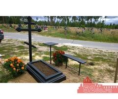 столик и лавочка могильные на кладбище
